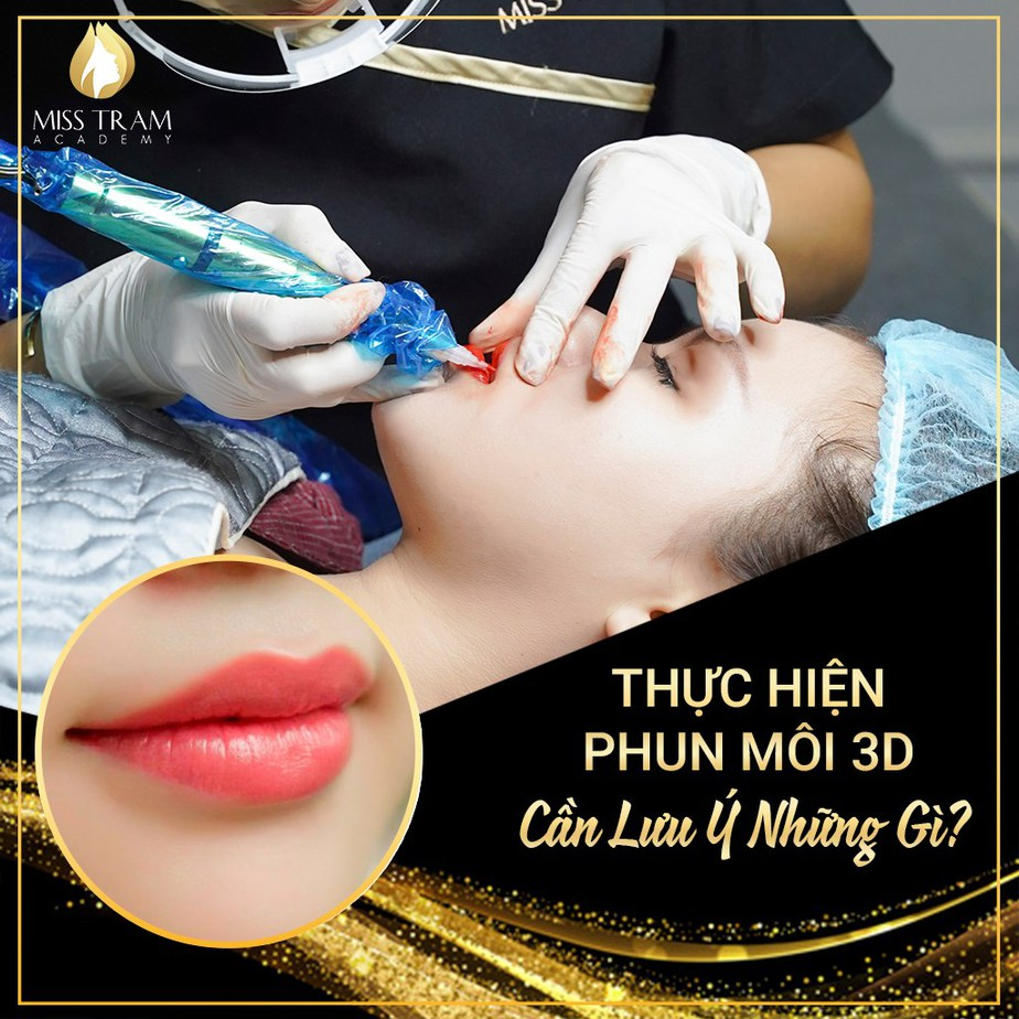 What to note when spraying 3d lips?