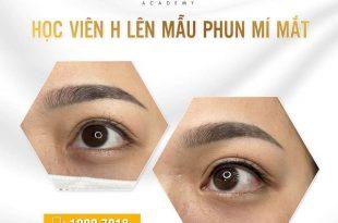 Kết quả học viên H lên mẫu phun mí mắt